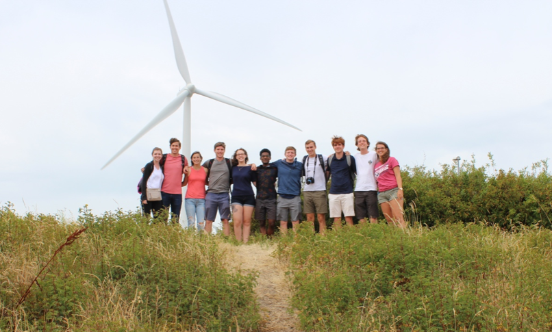 Erin and some of her classmates in Zeeland, Netherlands