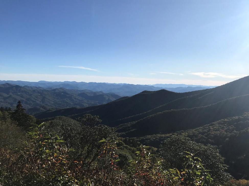 View from the Blue Ridge Parkway. (Photo by Kalina Georgieva).