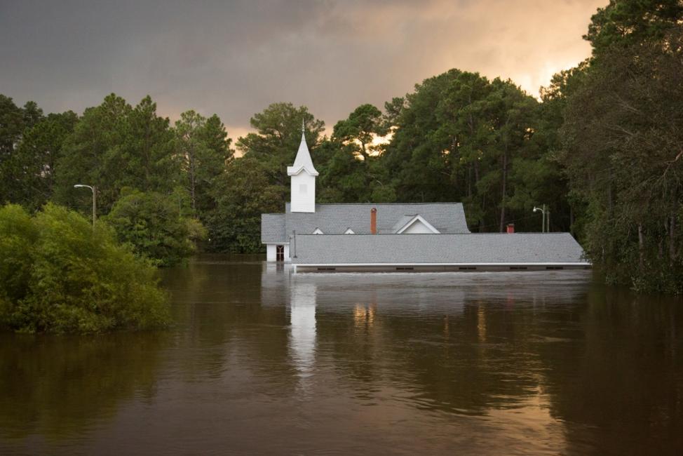 Flooding in Spring Lake, NC following Hurricane Florence
