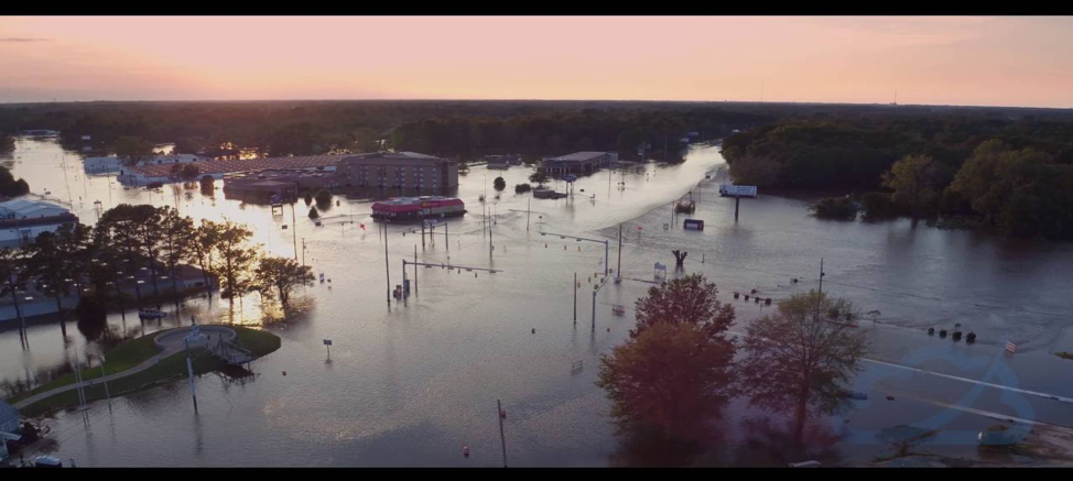 Flooding in Kinston, North Carolina following Hurricane Matthew (Nelson Aerial Productions)